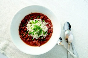 John Besh shares his red beans and rice recipe with Red Beans and Eric.