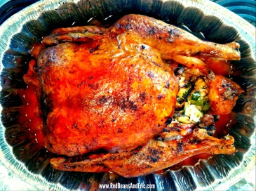 Creole Roasted Turkey with Holy Trinity Stuffing br RedBeansAndEric.com!