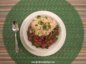 A healthy bowl of Peppery Red Beans & Rice by RedBeansAndEric.com!